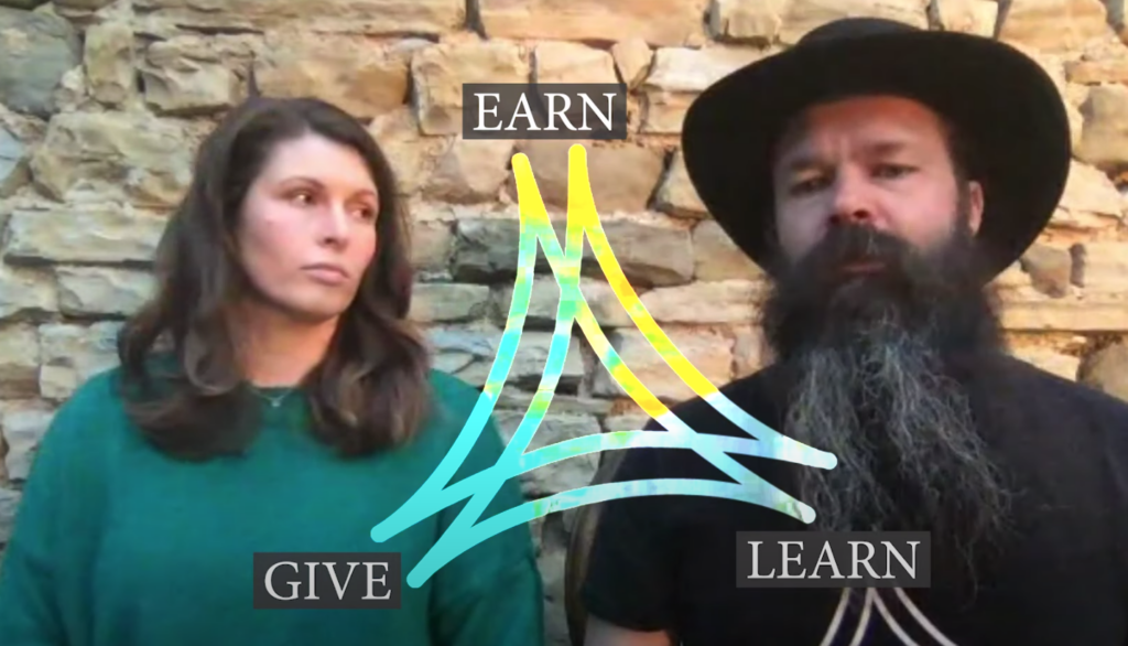 The Logo of the Castello Di Ristonchi is motivational. It stands for Earn, Learn, and Give. This amazing couple will not give up on their dream!